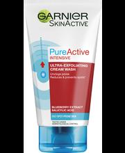 Garnier Skin Naturals 150ml Pure Active Intensive Mustapäitä Poistava Kuorintavoide