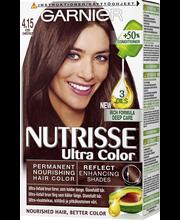 Garnier Nutrisse Ultra Colour 4.15 Viileä Mahonkinen Tummanruskea Kestoväri