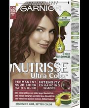 Garnier Nutrisse Ultra Color 5.62 Helmiäisenhohtoinen Punaruskea Kestoväri