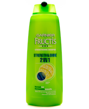 Garnier Fructis 400ml Strength&Shine 2in1 Shampoo + hoitoaine normaaleille hiuksille