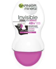Garnier Mineral Deodorant 50ml Woman Invisible Black, White & Colors Roll-on
