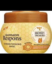 Garnier Respons 300ml Honey Treasures vahvistava ja korjaava hiusnaamio heikoille ja kuluneille hiuksille