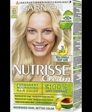 Garnier Nutrisse 10.1 Extra Light Pearl Blonde Kirkas Helmiäisvaalea kestoväri