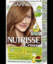 Garnier Nutrisse 6.23 Latte Kultainen Vaaleanruskea kestoväri