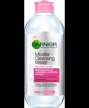 Garnier Skin Active 400ml Micellar puhdistusvesi kuivalle ja herkälle iholle