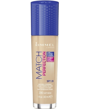 Rimmel 30ml Match Perfection Foundation SPF 20 200 Soft Beige meikkivoide