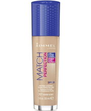 Rimmel 30ml Match Perfection Foundation SPF 20 301 Warm Honey meikkivoide