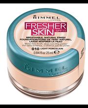 Rimmel 25ml Fresher Skin SPF15 Foundation 010 Light Porcelain meikkivoide