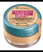 Rimmel 25ml Fresher Skin SPF15 Foundation 103 True Ivory meikkivoide
