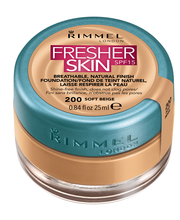 Rimmel 25ml Fresher Skin SPF15 Foundation 200 Soft Beige meikkivoide