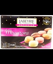 Multicatering 12kpl macarons lajitelma (vadelma, suklaa, pistaasi ja kahvi) kypsä pakaste