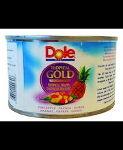 Dole Tropical Gold 227/139g Trooppiset hedelmät, Ananas, papaija ja guava paloja mehussa