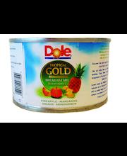 Dole Tropical Gold 227/139g Aamiaissekoitus, Tropical Gold ananaspaloja ja mandariinilohkoja mehussa