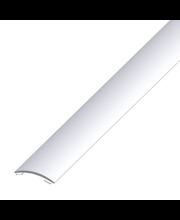 Saumalista hopea 40 x 5 mm, 2 m, tarrakiinnitys
