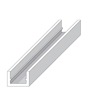 Alu u-lista 10 X 16,5 hopea 1 m Alfer