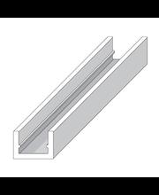 Alu u-lista 10 X 19,5 hopea 1 m Alfer