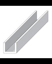 Alu u-lista 8 X 10,1 hopea 1 m Alfer