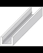 Alu u-lista 10x22mm