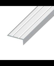 Tarrapäätelista 18 mm, 1 m hopeaeloksoitu