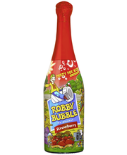 Robby Bubble Strawberry 0,75l mansikanmakuinen poreileva virkistysjuoma
