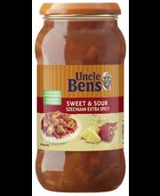 Uncle Ben's 450g Sweet & Sour Szechuan extra spicy,Sweet & Sour  hapanimeläkastike ripauksella chiliä