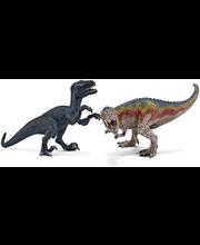 Schleich T-Rex ja Velociraptor