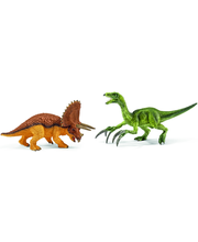 Schleich Triceratops and Therizinosaurus