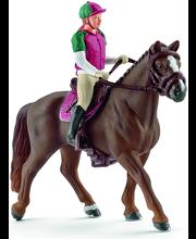 Schleich kilparatsastaja ja hevonen