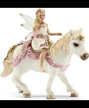 Schleich Bayala Lily keiju ratsastaa ponilla