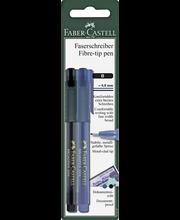 Faber-Castell Broadpen 1554 kuitukärkikynä 0,8 mm, musta ja sininen