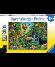 Ravensburger Animals in the Jungle palapeli, 200 palaa