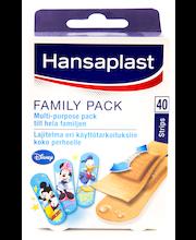 Hansaplast 40kpl Family Pack laastarilajitelma koko perheelle, 3 kokoa