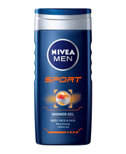 NIVEA MEN 250ml Sport Shower Gel - Body, Face & Hair -suihkusaippua