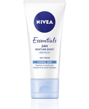NIVEA 50ml Essentials 24H Moisture Boost + Refresh Day Cream -päivävoide normaalille iholle