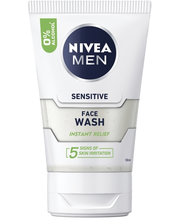 NIVEA MEN 100ml Sensitive Face Wash -puhdistusgeeli
