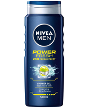 NIVEA MEN 500ml Power Refresh Shower Gel - Body, Face & Hair -suihkugeeli