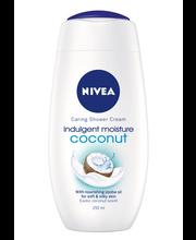NIVEA 250ml Indulging Moisture Coconut Caring Shower Cream -suihkusaippua