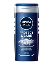 NIVEA MEN 250ml Protect & Care Shower Gel - Body, Face & Hair -suihkugeeli