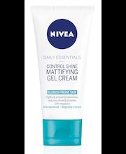 NIVEA 50ml Daily Essentials Control Shine Mattifying Gel Cream kasvovoide epäpuhtaalle iholle