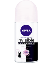 NIVEA 50ml Invisible for Black & White Clear Deo Roll-on antiperspirantti