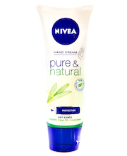 NIVEA 100ml Pure & Natural Hand Cream käsivoide