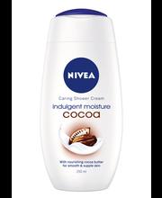NIVEA 250ml Indulging Moisture Cocoa Caring Shower Cream -suihkusaippua