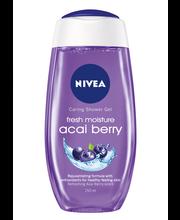 NIVEA 250ml Fresh Moisture Acai Berry Caring Shower Gel -suihkugeeli