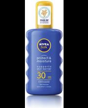 NIVEA SUN 200ml sk30 Protect & Moisture Sun Spray -aurinkosuojasuihke