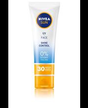 NIVEA SUN 50ml UV Face Shine Control SPF30 Sun Cream SK30 -aurinkosuojavoide