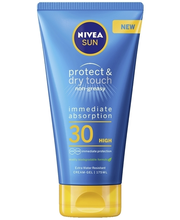 NIVEA SUN 175ml Protect & Dry Touch Cream-gel SK30 -aurinkosuojavoide