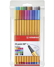 Stabilo Point 88 kuitukynäsarja 20 väriä