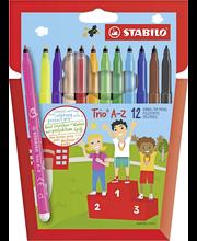 Stabilo Trio huopakynäsarja 12 väriä