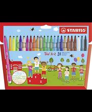 Stabilo Trio huopakynäsarja 24 väriä