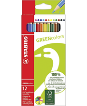 Stabilo Green Colors puuväri 12-värin sarja